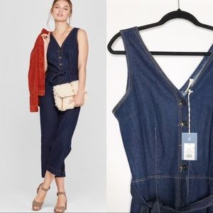 Universal Thread Denim Jumpsuit with Belt NWT